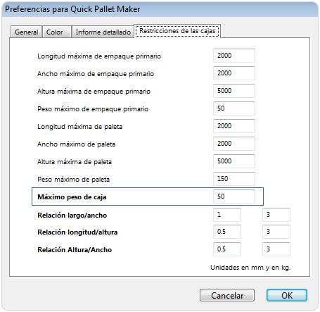 Ejemplo en quick pallet maker software de empaque for Como cambiar los empaques de la regadera